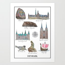 Best of Denmark Art Print