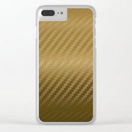 Gold Carbon Clear iPhone Case