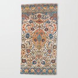 Isfahan Antique Central Persian Carpet Print Beach Towel