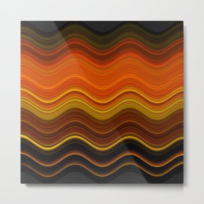 Pattern - October Metal Print