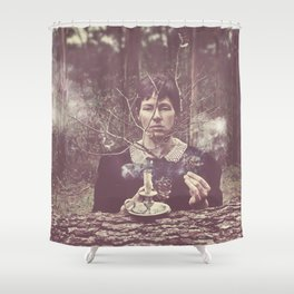 (our) Nature Destroyed (our) Home Shower Curtain