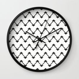 Jute in White and Black Wall Clock