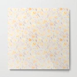 Floral watercolor orange pattern 2 Metal Print