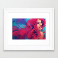alicexz Framed Art Prints featuring Daughter of Triton by Alice X. Zhang