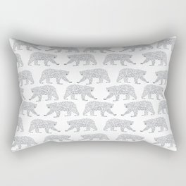 Polar Bears geometric trendy kids bear pattern print for boy or girl gender neutral Rectangular Pillow