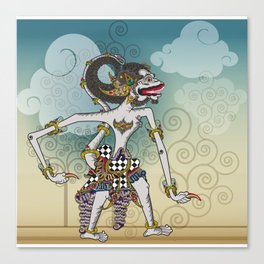 Modification of the puppet characters Hanuman white monkey in the story of the Ramayana Canvas Print