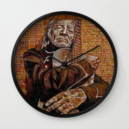 Willie's Guitar Wall Clock