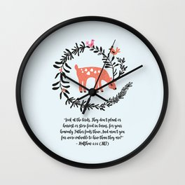 Deer & Birds Wall Clock