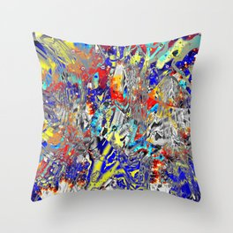 ice and fire friend Throw Pillow