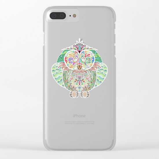 RAINBOW OWL Clear iPhone Case
