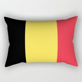 Flag of Belgium Black Yellow Red Rectangular Pillow