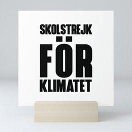 SKOLSTREJK FOR KLIMATET Mini Art Print