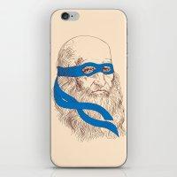 leonardo iPhone & iPod Skins featuring Leonardo by Fresco Umbiatore