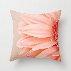 Half a Gerbera  Throw Pillow
