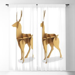 Stylized 3D model of a deer. Blackout Curtain
