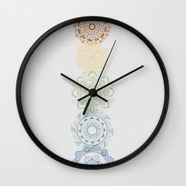 Chakra mandalas Wall Clock