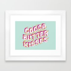 Cocoa Butter Kisses Framed Art Print