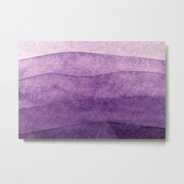 abstract art background light purple lilac colors watercolor painting canvas Metal Print