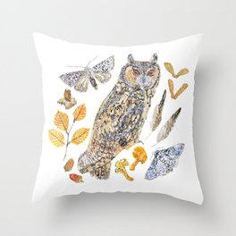 Autumn Wildlife Throw Pillow