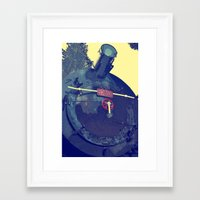 train Framed Art Prints featuring train  by gzm_guvenc