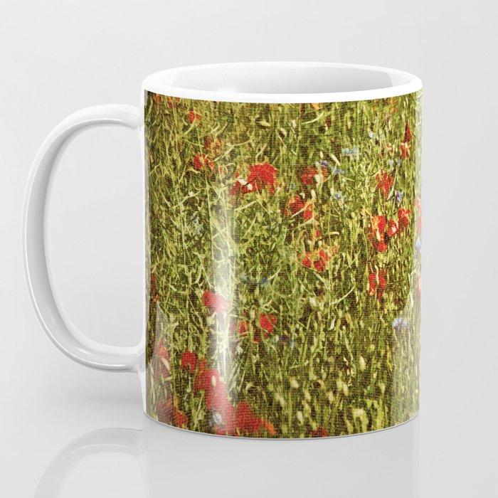 Sommerfeld MIT roten und blauen Blumen Coffee Mug