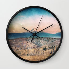 Desert Mountain Adventure - Nature Photography Wall Clock