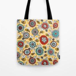 Bees & Blooms Tote Bag