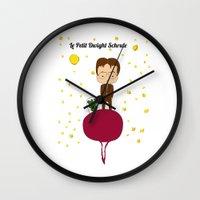 dwight schrute Wall Clocks featuring Dwight Schrute by Creo tu mundo