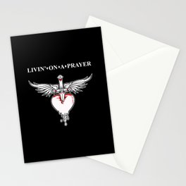 Livin' on a prayer. A rock and roll song. Stationery Cards