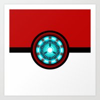 pokeball Art Prints featuring Pokeball Reactor by aleha