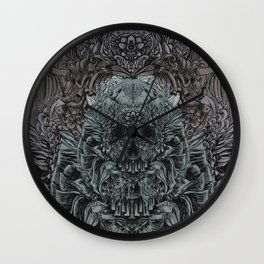 Skull Peaces Wall Clock