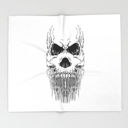 FULL FACE SKULL Throw Blanket