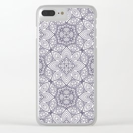 Abstract Vintage Floral V12 Clear iPhone Case