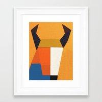taurus Framed Art Prints featuring Taurus by Fernando Vieira