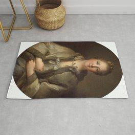 Jean-Marc Nattier - Portrait of a Woman in Grey Rug