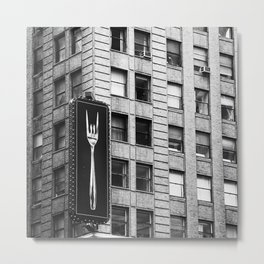 NYC Building Billboard  Metal Print