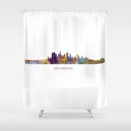 Los Angeles City Skyline HQ v1 Shower Curtain