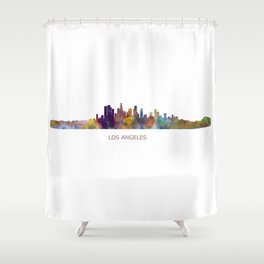 Los Angeles City Skyline HQ V1 Shower Curtain