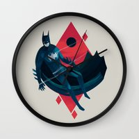 knight Wall Clocks featuring Knight by Reno Nogaj
