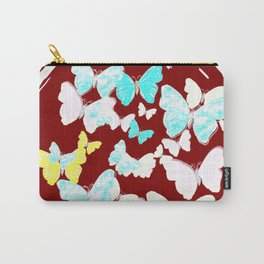 Red Bottled Butterflies Carry-All Pouch
