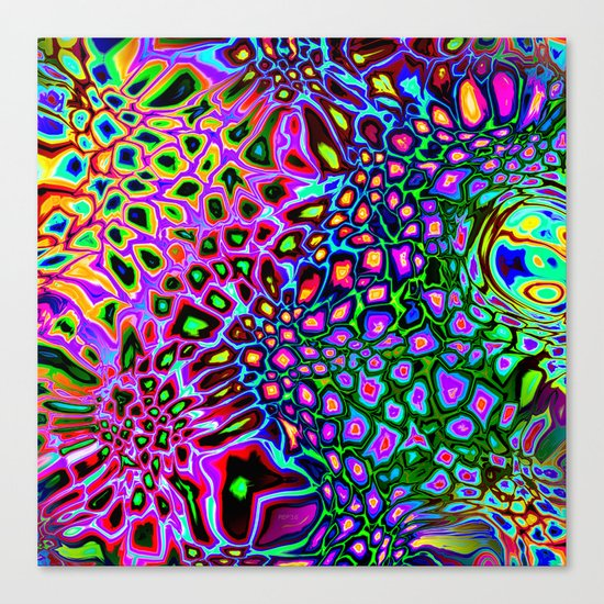 Spectrum of Abstract Shapes Canvas Print