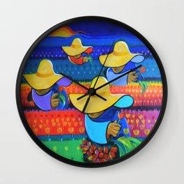 LAS DAMAS RECOLECTORAS Wall Clock