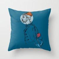 sailor Throw Pillows featuring Sailor by Hazel Bellhop