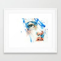blues Framed Art Prints featuring Blues by Jenny Viljaniemi