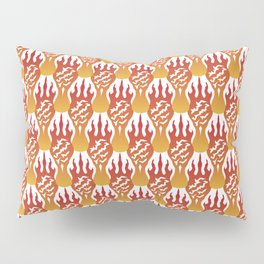 SCORCH pattern [WHITE] Pillow Sham