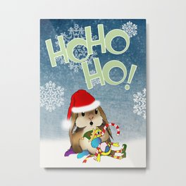 Currier & Bunnies: HO HO HO Metal Print