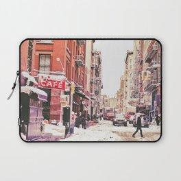 New York City Snow Soho Laptop Sleeve