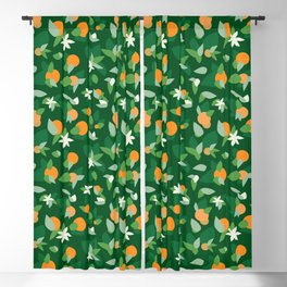 Orange Blossoms - Pattern Blackout Curtain