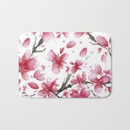 Cherry Blossoms #society6 #buyart Bath Mat