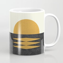 Sunset Geometric Midcentury style Coffee Mug